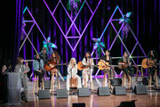 (L-R) Leslie Fram, Martina McBride, Renee Blair, Kylie Morgan, Ivy Dene, Sophie Dawn, Madison Kozak, Sykamore and Tiera seen onstage during the 2019 CMT Next Women Of Country at CMA Theater at the Country Music Hall of Fame and Museum on November 12, 2019 in Nashville, Tennessee.