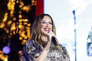 Ashley Tisdale attends Christmas at The Grove: A Festive Tree Lighting celebration at The Grove on November 17, 2019 in Los Angeles, California.
