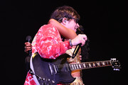 """Rivers Cuomo of Weezer and Rozonda """"Chilli"""" Thomas of TLC perform at Coachella Stage during the 2019 Coachella Valley Music And Arts Festival on April 13, 2019 in Indio, California."""