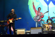 Roland Orzabal of Tears For Fears and Rivers Cuomo and Patrick Wilson of Weezer perform at Coachella Stage during the 2019 Coachella Valley Music And Arts Festival on April 13, 2019 in Indio, California.