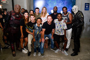 J. Lee, Jessica Szohr, Penny Johnson Jerald, Mark Jackson, Seth MacFarlane, Kai Wener, Adrianna Palicki, Scott Grimes, Peter Macon, BJ Tanner, and Chad Coleman attend the Orville Experiance during the 2019 Comic-Con International on July 19, 2019 in San Diego, California.
