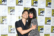 Manny Jacinto and Jameela Jamil attend the 2019 Comic-Con International - 'The Good Place' Photo Call at Hilton Bayfront on July 20, 2019 in San Diego, California.