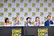 Candice Patton, Caity Lotz, Ben Feldman, Lauren Ash, and Matt Davis speak at the TV Guide Magazine Fan Favorites 2019 during 2019 Comic-Con International at San Diego Convention Center on July 19, 2019 in San Diego, California.