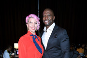 Rebecca King-Crews and Terry Crews backstage during 2019 ESSENCE Festival Presented By Coca-Cola at Ernest N. Morial Convention Center on July 05, 2019 in New Orleans, Louisiana.
