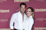 (L-R) Maksim Chmerkovskiy and Peta Murgatroyd attend the 2019 Entertainment Weekly Pre-Emmy Party at Sunset Tower on September 20, 2019 in Los Angeles, California.