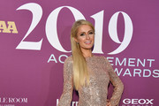 Paris Hilton attends 2019 FN Achievement Awards at IAC Building on December 03, 2019 in New York City.