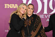 Christie Brinkley and Donna Karan attend 2019 FN Achievement Awards at IAC Building on December 03, 2019 in New York City.