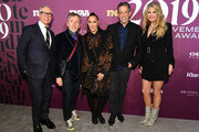Tommy Hilfiger, Simon Doonan, Donna Karan, Kenneth Cole, and Christie Brinkley attend 2019 FN Achievement Awards at IAC Building on December 03, 2019 in New York City.