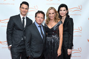 (L-R) Keith Lieberthal, Michael J. Fox, Tracy Pollan and Julianna Margulies attend A Funny Thing Happened On The Way To Cure Parkinson's benefitting The Michael J. Fox Foundation on November 16, 2019 in New York City.