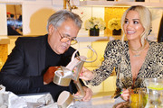 Giuseppe Zanotti  (L) and Rita Ora attend Giuseppe Zanotti And Rita Ora Launch 'Giuseppe for Rita Ora' Shoe Collection At Saks Fifth Avenue Beverly Hillson January 24, 2019 in Beverly Hills, California.