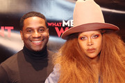 Erykah Badu (R) and Producer James Lopez attend the Dallas special screening of Paramount Pictures' film 'What Men Want' at  AMC North Park 15 on February 05, 2019 in Dallas, Texas.