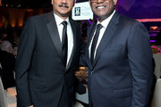 (L-R) 82nd Attorney General of the US, Eric Holder and Forest Whitaker during City Of Hope Spirit Of Life Gala 2019 on October 10, 2019 in Santa Monica, California.