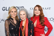 Tory Burch, Margaret Atwood, and Samantha Barry attend the 2019 Glamour Women Of The Year Awards at Alice Tully Hall on November 11, 2019 in New York City.