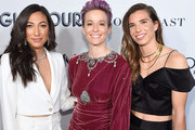 Christen Press, Megan Rapinoe and Tobin Heather attend the 2019 Glamour Women Of The Year Awards at Alice Tully Hall on November 11, 2019 in New York City.