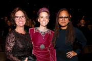 Denise Rapinoe, Megan Rapinoe and Ava DuVernay pose at the 2019 Glamour Women Of The Year Awards at Alice Tully Hall on November 11, 2019 in New York City.