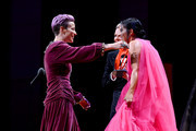 Megan Rapinoe and Ali Krieger embrace onstage at the 2019 Glamour Women Of The Year Awards at Alice Tully Hall on November 11, 2019 in New York City.