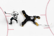 Ryan O?Reilly #90 of the St. Louis Blues skates around Marc-Andre Fleury #29 of the Vegas Golden Knights for a goal during the 2019 Honda NHL All-Star Game at SAP Center on January 26, 2019 in San Jose, California.