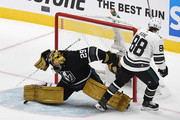Marc-Andre Fleury #29 of the Vegas Golden Knights makes a save against Patrick Kane #88 of the Chicago Blackhawks during the 2019 Honda NHL All-Star Game at SAP Center on January 26, 2019 in San Jose, California.