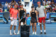 Coin toss during day two of the 2019 Hopman Cup at RAC Arena on December 30, 2018 in Perth, Australia.