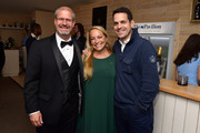 IMDb Senior Film Editor Keith Simanton, Head of IMDb PR & Talent Relations Emily Glassman and IMDb Special Correspondent Dave Karger attend the 2019 IMDb Dinner Party during the 72nd Annual Cannes Film Festival on May 20, 2019 in Cannes, France.