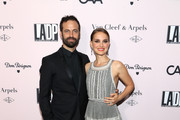 Benjamin Millepied and Actress Natalie Portman attend the 2019 LA Dance Project Gala, Cocktail Hour Hosted by Dom Pérignon at Hauser & Wirth on October 19, 2019 in Los Angeles, California.