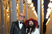 (L-R) Marco Bizzarri and Alessandro Michele, wearing Gucci, attend the 2019 LACMA Art + Film Gala Presented By Gucci at LACMA on November 02, 2019 in Los Angeles, California.