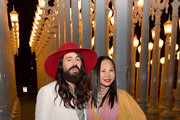 Alessandro Michele (L) and Eva Chow, both wearing Gucci, attend the 2019 LACMA Art + Film Gala Presented By Gucci at LACMA on November 02, 2019 in Los Angeles, California.