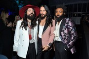 (L-R) Alessandro Michele, Jared Leto, and Donald Glover, all wearing Gucci, attend the 2019 LACMA Art + Film Gala Presented By Gucci at LACMA on November 02, 2019 in Los Angeles, California.