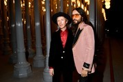 (L-R) Beck and Jared Leto, both wearing Gucci, attend the 2019 LACMA Art + Film Gala Presented By Gucci at LACMA on November 02, 2019 in Los Angeles, California.