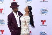 (L-R) Ne-Yo and Crystal Renay attend the 2019 Latin American Music Awards at Dolby Theatre on October 17, 2019 in Hollywood, California.