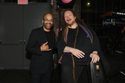 Jeffrey Wright and Jaron Lanier the 2019 Live Arts Gala at The Caldwell Factory on March 25, 2019 in New York City.