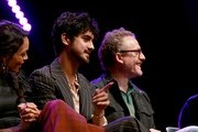 "(L-R) Avan Jogia and Paul Wernick speak osntage at the ""Zombieland: Double Tap"" panel during 2019 Los Angeles Comic Con at Los Angeles Convention Center on October 11, 2019 in Los Angeles, California."