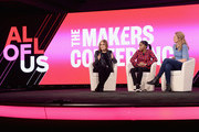 (L-R) Gloria Steinem, Rosdely Ciprian and Heidi Schreck speak onstage during The 2019 MAKERS Conference at Monarch Beach Resort on February 6, 2019 in Dana Point, California.