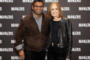 CEO, Verizon Media Guru Gowrappan (L) and Gloria Steinem attend The 2019 MAKERS Conference at Monarch Beach Resort on February 6, 2019 in Dana Point, California.