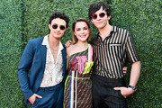 (L-R) Gavin Leatherwood, Kiernan Shipka and Ross Lynch attend the 2019 MTV Movie and TV Awards at Barker Hangar on June 15, 2019 in Santa Monica, California.