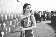 Image has been processed using digital filters) Kiernan Shipka attends the 2019 MTV Movie and TV Awards at Barker Hangar on June 15, 2019 in Santa Monica, California.