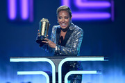 Jada Pinkett Smith speaks onstage during the 2019 MTV Movie and TV Awards at Barker Hangar on June 15, 2019 in Santa Monica, California.