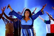 Lizzo performs onstage during the 2019 MTV Movie and TV Awards at Barker Hangar on June 15, 2019 in Santa Monica, California.