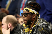 2 Chainz watches the action during the NBA All-Star game as part of the 2019 NBA All-Star Weekend at Spectrum Center on February 17, 2019 in Charlotte, North Carolina.  NOTE TO USER: User expressly acknowledges and agrees that, by downloading and/or using this photograph, user is consenting to the terms and conditions of the Getty Images License Agreement. Mandatory Copyright Notice: Copyright 2019 NBAE