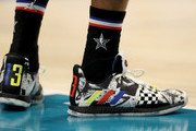 A detail view of James Harden #13 of the Houston Rockets and Team LeBron shoes during the NBA All-Star game as part of the 2019 NBA All-Star Weekend at Spectrum Center on February 17, 2019 in Charlotte, North Carolina.  NOTE TO USER: User expressly acknowledges and agrees that, by downloading and/or using this photograph, user is consenting to the terms and conditions of the Getty Images License Agreement.