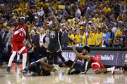 Draymond Green #23 of the Golden State Warriors is called for a technical foul for calling a timeout with none remaining against the Toronto Raptors during Game Six of the 2019 NBA Finals at ORACLE Arena on June 13, 2019 in Oakland, California. NOTE TO USER: User expressly acknowledges and agrees that, by downloading and or using this photograph, User is consenting to the terms and conditions of the Getty Images License Agreement.
