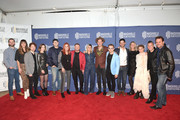 "Frank Hurd, Madeline McDonald, Justin Davis, Sarah Zimmermann, Luke Laird, Victoria Shaw, Shane McAnally, Cassadee Pope, Sam Palladio, Hunter Hayes, Brian A. Loschiavo, Erika Wollam Nichols, Clare Bowen, Brandon Robert Young, and Charles Esten attend the 2019 Nashville Film Festival - ""Bluebird"" Screening after party on October 08, 2019 in Nashville, Tennessee."