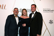 Rey Hernandez, Sarah Arison, and  Bill Jones attend 2019 National YoungArts Foundation Backyard Ball Performance And Gala on January 12, 2019 in Miami, Florida.