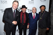 (L-R) Alec Baldwin, Joe Pesci, Martin Scorsese and Spike Lee attend the 2019 New York Film Critics Circle Awards at TAO Downtown on January 07, 2020 in New York City.