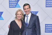 Robert F. Kennedy Human Rights President Kerry Kennedy and Humana President and CEO Bruce Broussard attend the 2019 Robert F. Kennedy Human Rights Ripple Of Hope Awards on December 12, 2018 in New York City.