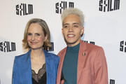 "Barbara Garrick and Josiah Victoria Garcia attend the premiere of ""Armistead Maupin's Tales Of The City"" at the Castro Theatre on April 10, 2019 in San Francisco, California."