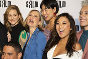 "(L-R) Laura Linney, Charlie Barnett, Barbara Garrick, May Hong, Ashley Park, Josiah Victoria Garcia attend the premiere of ""Armistead Maupin's Tales Of The City"" at the Castro Theatre on April 10, 2019 in San Francisco, California."