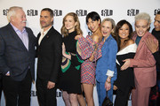 "( L-R) Armistead Maupin, Murray Bartlett, Laura Linney, May Hong,  Barbara Garrick, Ashley Park, Josiah Victoria Garcia, and Charlie Barnett attend the premiere of ""Armistead Maupin's Tales Of The City"" at the Castro Theatre on April 10, 2019 in San Francisco, California."