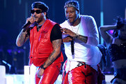 Ro James (L) and BJ The Chicago Kid perform during the 2019 Soul Train Awards at the Orleans Arena on November 17, 2019 in Las Vegas, Nevada.
