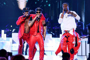(L-R) Luke James, Ro James and BJ The Chicago Kid perform during the 2019 Soul Train Awards at the Orleans Arena on November 17, 2019 in Las Vegas, Nevada.